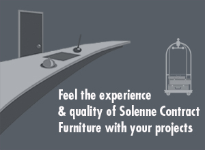 Feel the expreience & quality of Solenne Contract Furniture with your projects.